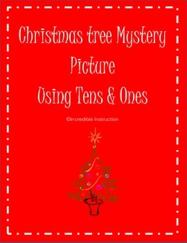 Christmas Tree 100's Chart Mystery Picture