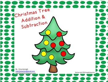Christmas Tree Addition and Subtraction from 0-10
