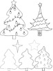 Christmas Tree Clip Art (16 Pieces Included)