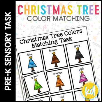 Christmas Tree Color Matching Folder Game for students wit
