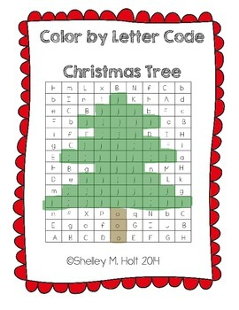 Christmas Tree - Color by Letter Code - Christmas