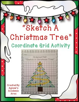 Christmas Tree Coordinate Grid Activity
