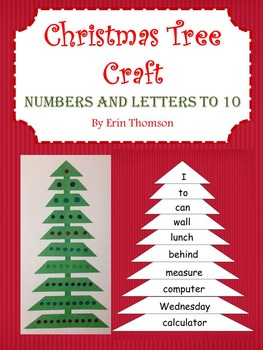 Christmas Tree Craft - Numbers and Letters to 10