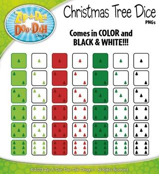 Christmas Tree Dice Clip Art Set — Over 40 Graphics!