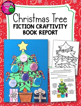 Christmas Tree Fiction Craftivity Book Report Project - Us