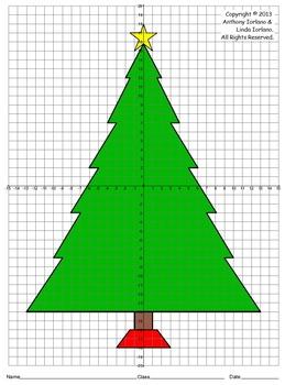 Christmas Tree (Four Quadrants), Coordinate Drawing & Grap