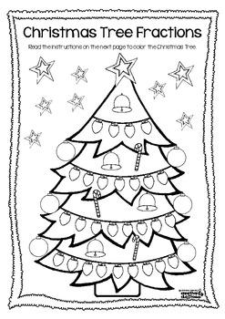 Christmas Tree Fractions FREEBIE