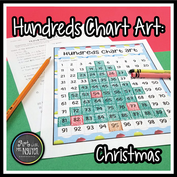 Christmas Tree Hundreds Chart Art (Mystery Picture)