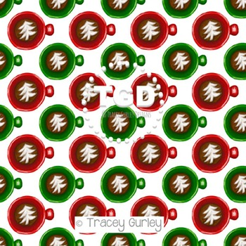 Christmas Tree Latte digital paper Printable Tracey Gurley