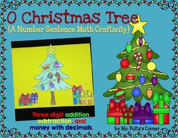 Christmas Tree Math Craftivity: Addition and Subtraction N