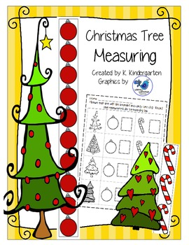 Christmas Tree Measuring with Non Standard Units Math Center
