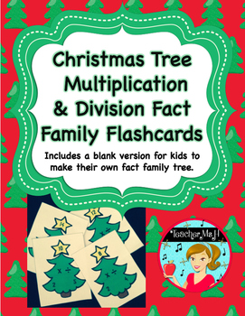 Multiplication and Division Fact Family Flashcards ~ Chris
