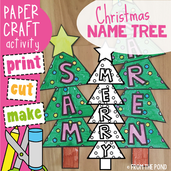 Christmas Tree Name / Word Craft