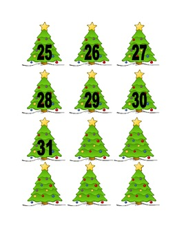 Christmas Tree Numbers for Calendar or Counting Activity