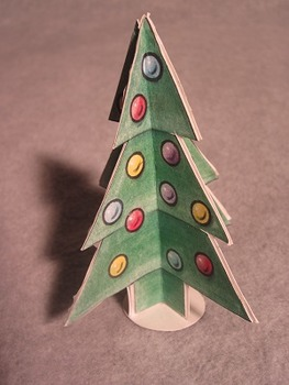 Christmas Tree Ornament. Fun 3D Craft