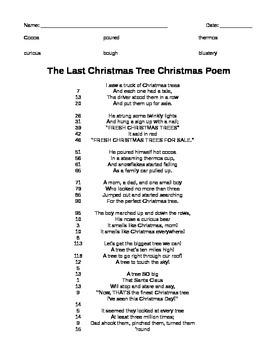 Christmas Tree Poem Partner Reading