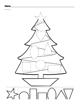 Christmas Tree Shapes Cut and Paste