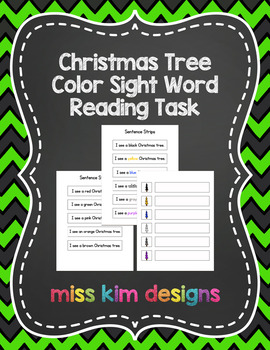 Christmas Tree Sight Word File Folder Game for students wi
