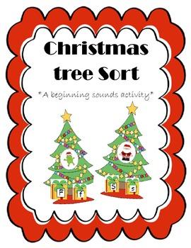 Christmas Tree Sort {A beginning sounds activity}