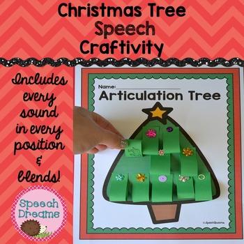 Christmas Tree Speech Therapy Craft