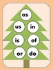 Christmas Tree Two Letter Word Match/ Bingo
