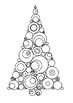 Christmas Tree Word Search and Color