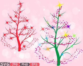 Christmas Tree clipart clip art snow gift santa christ tre