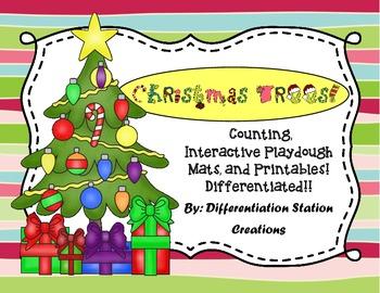 Christmas Trees! Interactive Play Dough Mats