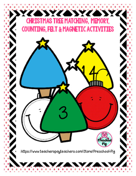Christmas Trees & Ornaments: colors matching ordering coun