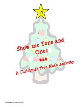 UPDATED - Christmas Trees Tens & Ones (place value with hu