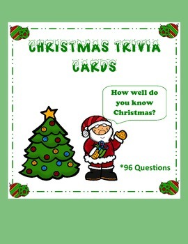 Christmas Trivia Cards (96 Questions)