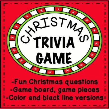 Christmas Trivia Game Fun Activity  No Prep   Santa's Comi