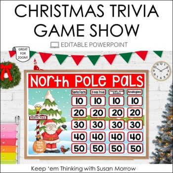 Christmas Trivia Jeopardy Style Game Show - Editable