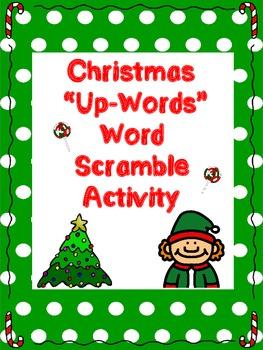 "Christmas ""Up-Words"" Word Scramble Activity"