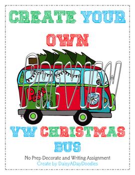 Christmas VW BUS - No Prep - Christmas Writing