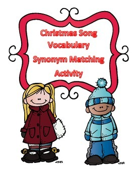 Christmas Activity Vocabulary/Synonym Matching Words Pulle