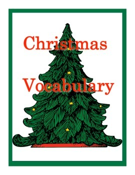 Christmas Vocabulary: Matching and Word Search