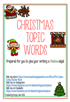 Christmas Vocabulary Words