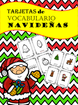 Christmas Vocabulary in Spanish / Tarjetas de Vocabulario