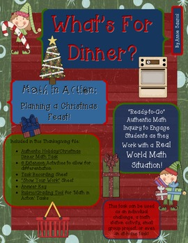 Christmas: What's for Dinner? Ready-to-Go Authentic Math T