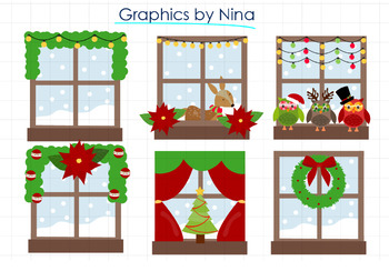 Christmas Windows clipart