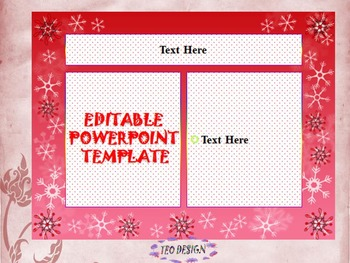 Winter Activities - EDITABLE POWERPOINT TEMPLATE