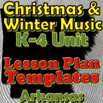 Christmas/Winter Holidays-Lesson Plan Template Bundle-Arka