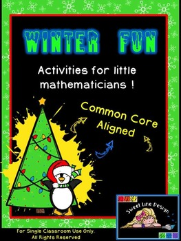 Christmas / Winter Math NO PREP Packet - Common Core Align