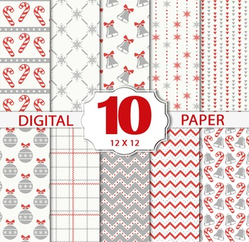Christmas Winter Papers/Christmas Digital Sheets/Printable