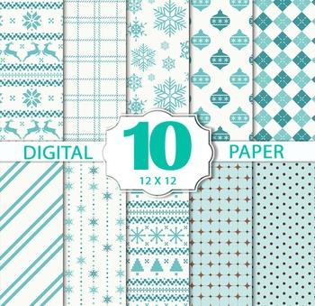 Christmas Winter Papers/Christmas Digital Sheets/Printable