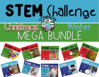 Christmas Winter Snow STEM Engineering Challenge MEGA Bundle
