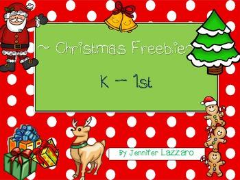 Christmas Wish List and Santa Letter K - 1 Freebie