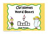 Christmas Word Boxes FREEBIE