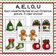Christmas Word Family Slide and Write